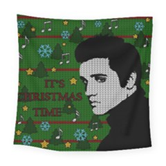 Elvis Presley   Christmas Square Tapestry (large)