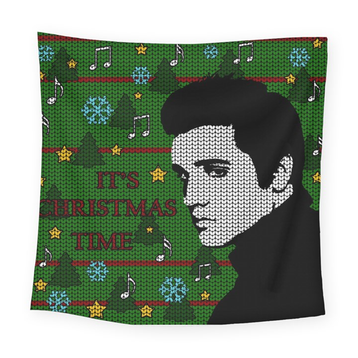 Elvis Presley - Christmas Square Tapestry (Large)