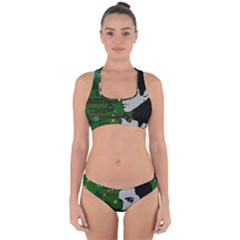Elvis Presley   Christmas Cross Back Hipster Bikini Set