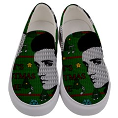 Elvis Presley   Christmas Men s Canvas Slip Ons