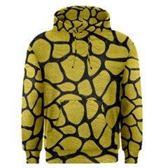 Skin1 Black Marble & Yellow Leather (r) Men s Pullover Hoodie