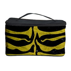 Skin2 Black Marble & Yellow Leather (r) Cosmetic Storage Case