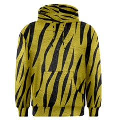 Skin3 Black Marble & Yellow Leather Men s Pullover Hoodie