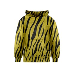 Skin3 Black Marble & Yellow Leather Kids  Pullover Hoodie