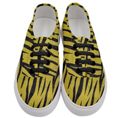 Skin3 Black Marble & Yellow Leather Women s Classic Low Top Sneakers