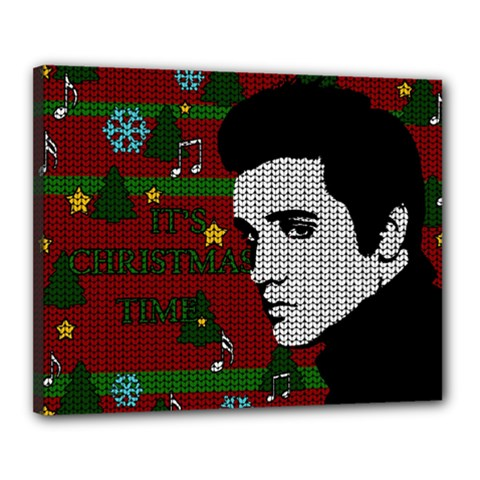 Elvis Presley   Christmas Canvas 20  X 16