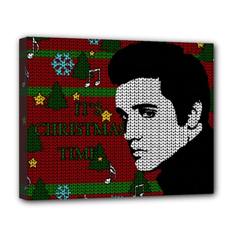 Elvis Presley   Christmas Deluxe Canvas 20  X 16