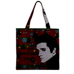 Elvis Presley   Christmas Zipper Grocery Tote Bag