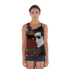 Elvis Presley   Christmas Sport Tank Top