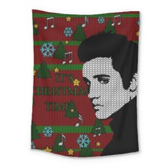 Elvis Presley   Christmas Medium Tapestry