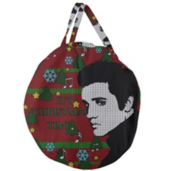 Elvis Presley   Christmas Giant Round Zipper Tote