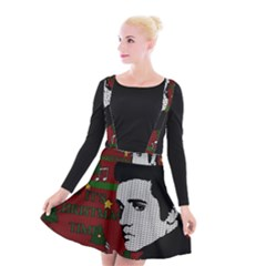 Elvis Presley   Christmas Suspender Skater Skirt
