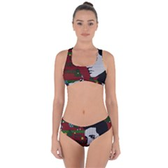 Elvis Presley   Christmas Criss Cross Bikini Set