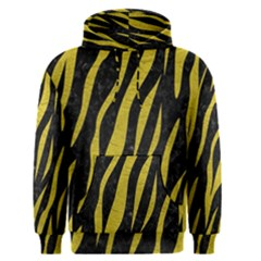Skin3 Black Marble & Yellow Leather (r) Men s Pullover Hoodie