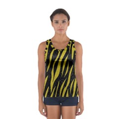 Skin3 Black Marble & Yellow Leather (r) Sport Tank Top
