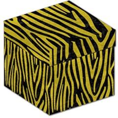 Skin4 Black Marble & Yellow Leather Storage Stool 12