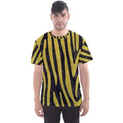 Skin4 Black Marble & Yellow Leather Men s Sports Mesh Tee