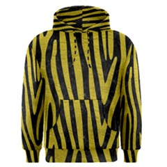 Skin4 Black Marble & Yellow Leather Men s Pullover Hoodie