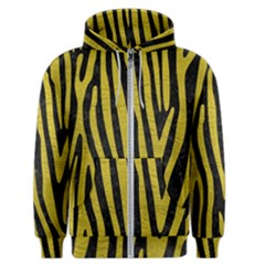 Skin4 Black Marble & Yellow Leather Men s Zipper Hoodie