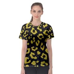 Skin5 Black Marble & Yellow Leather Women s Sport Mesh Tee
