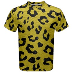 Skin5 Black Marble & Yellow Leather (r) Men s Cotton Tee