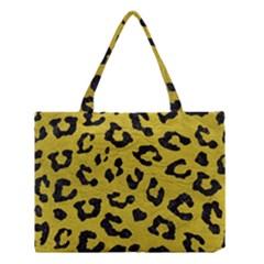 Skin5 Black Marble & Yellow Leather (r) Medium Tote Bag