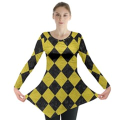 Square2 Black Marble & Yellow Leather Long Sleeve Tunic