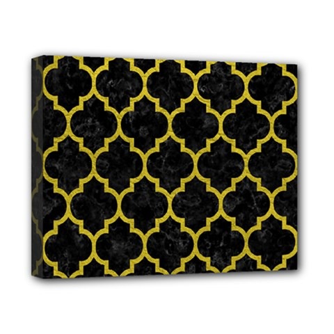 Tile1 Black Marble & Yellow Leather (r) Canvas 10  X 8