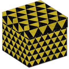 Triangle3 Black Marble & Yellow Leather Storage Stool 12