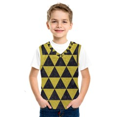 Triangle3 Black Marble & Yellow Leather Kids  Sportswear