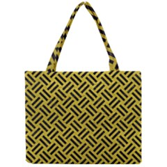 Woven2 Black Marble & Yellow Leather Mini Tote Bag