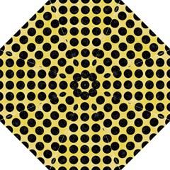 Circles1 Black Marble & Yellow Watercolor Hook Handle Umbrellas (medium)