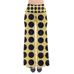 Circles1 Black Marble & Yellow Watercolor Pants