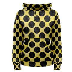 Circles2 Black Marble & Yellow Watercolor Women s Pullover Hoodie