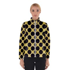 Circles2 Black Marble & Yellow Watercolor Winterwear