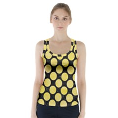 Circles2 Black Marble & Yellow Watercolor (r) Racer Back Sports Top