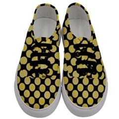 Circles2 Black Marble & Yellow Watercolor (r) Men s Classic Low Top Sneakers