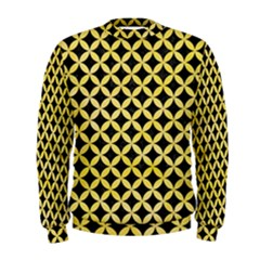 Circles3 Black Marble & Yellow Watercolor (r) Men s Sweatshirt