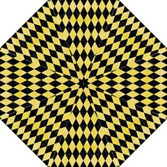 Diamond1 Black Marble & Yellow Watercolor Hook Handle Umbrellas (large)