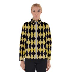 Diamond1 Black Marble & Yellow Watercolor Winterwear