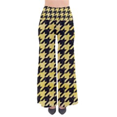 Houndstooth1 Black Marble & Yellow Watercolor Pants
