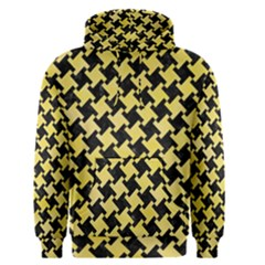 Houndstooth2 Black Marble & Yellow Watercolor Men s Pullover Hoodie