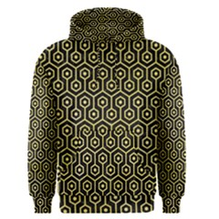 Hexagon1 Black Marble & Yellow Watercolor (r) Men s Pullover Hoodie