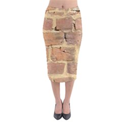 Brick Wall Midi Pencil Skirt