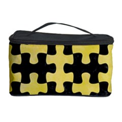 Puzzle1 Black Marble & Yellow Watercolor Cosmetic Storage Case