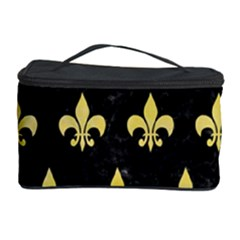 Royal1 Black Marble & Yellow Watercolor Cosmetic Storage Case