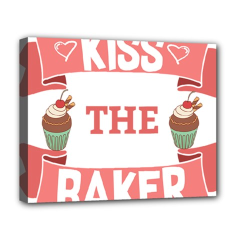 Kiss The Baker Deluxe Canvas 20  X 16