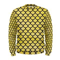 Scales1 Black Marble & Yellow Watercolor Men s Sweatshirt