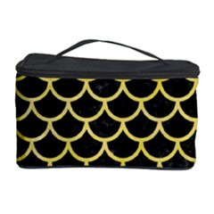 Scales1 Black Marble & Yellow Watercolor (r) Cosmetic Storage Case