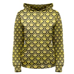 Scales2 Black Marble & Yellow Watercolor Women s Pullover Hoodie